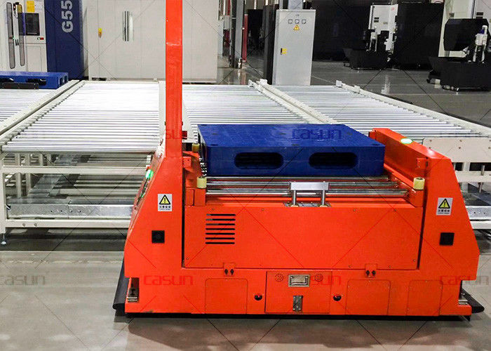 Customized Heavy Load Laser Guided Roller Conveyor AGV Vehicle With Roller Platform